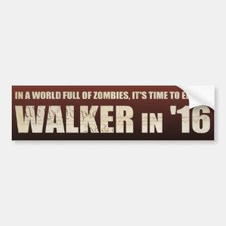 Elect a Walker '16 - Bumper Sticker Car Bumper Sticker