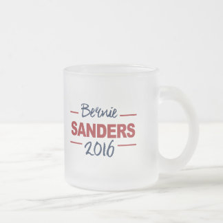 Elect Bernie Sanders 2016 Campaign Sign Cursive Frosted Glass Coffee Mug