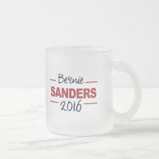 Elect Bernie Sanders 2016 Campaign Sign Cursive Frosted Glass Coffee Mug
