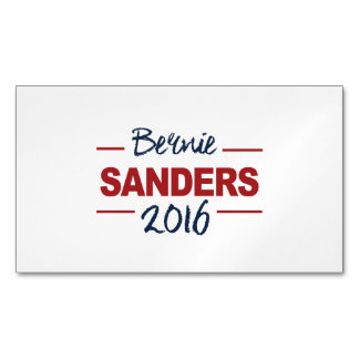 Elect Bernie Sanders 2016 Campaign Sign Cursive Magnetic Business Cards (Pack Of 25)