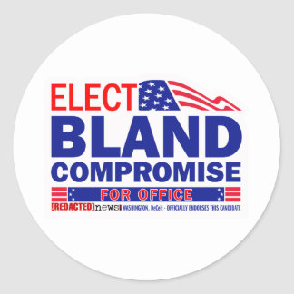 Elect Bland Compromise For Office Round Sticker