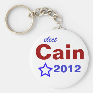 Elect Cain 2012 Basic Round Button Keychain