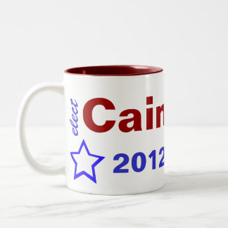 Elect Cain 2012 Two-Tone Coffee Mug