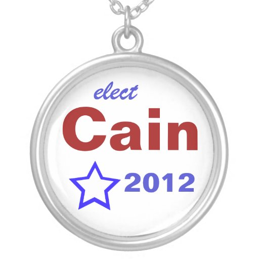 Elect Cain 2012 Round Pendant Necklace