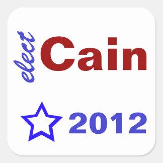 Elect Cain 2012 Square Sticker