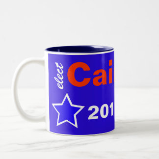 Elect Cain 2012 Two-Tone Coffee Mug