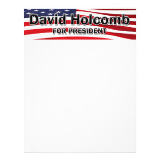 "Elect David Holcomb 8.5"" X 11"" Flyer"