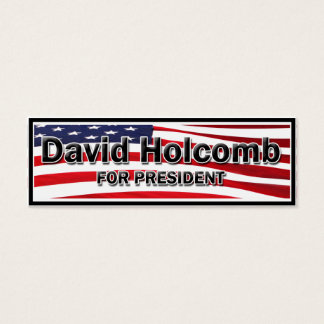 Elect David Holcomb Mini Business Card