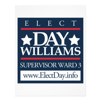 Elect Day Williams Personalized Flyer