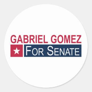 Elect Gabriel Gomez Classic Round Sticker