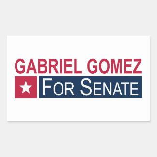 Elect Gabriel Gomez Rectangular Sticker