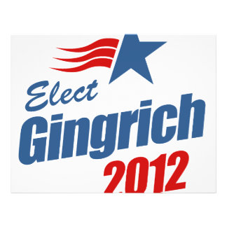 Elect Gingrich 2012 Personalized Flyer