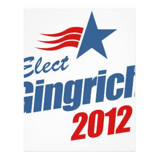 Elect Gingrich 2012 Full Color Flyer
