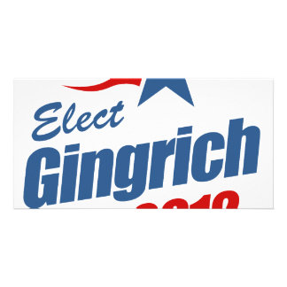 Elect Gingrich 2012 Customized Photo Card