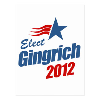 Elect Gingrich 2012 Post Card