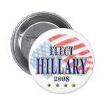 Elect Hillary 2008 Button