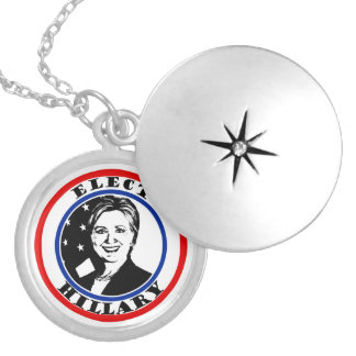 Elect Hillary Clinton Round Locket Necklace