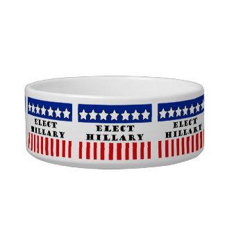 Elect Hillary Clinton Pet Water Bowl