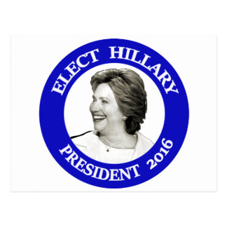Elect Hillary President 2016 - blue Postcard