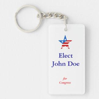 Elect John Doe Customizable Keychain
