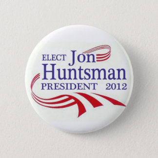 Elect Jon Huntsman 2012 Pinback Button