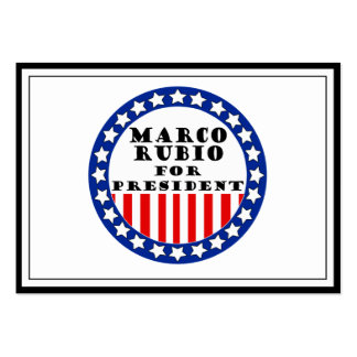 Elect Marco Rubio Large Business Cards (Pack Of 100)