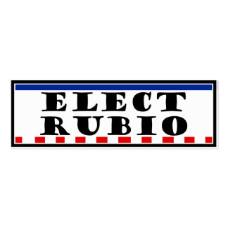 Elect Marco Rubio Double-Sided Mini Business Cards (Pack Of 20)