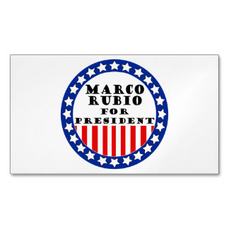 Elect Marco Rubio Magnetic Business Cards (Pack Of 25)