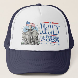 Elect McCain GOP Elephant 2008 Trucker Hat
