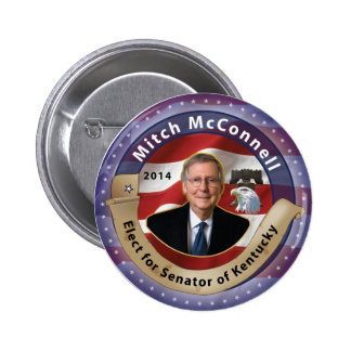 Elect Mitch McConnell for Senator of Kentucky Pinback Button