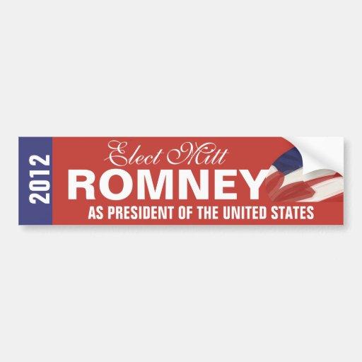 Elect Mitt Romney Bumper Sticker