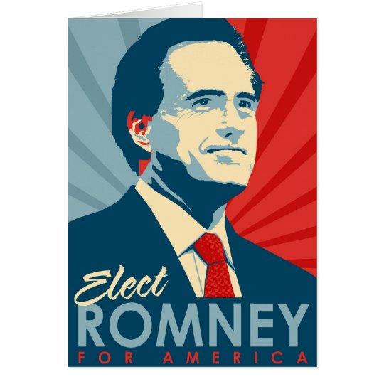 Elect Mitt Romney for President Card