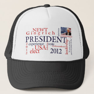 Elect Newt Gingrich 2012 Trucker Hat