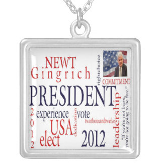 Elect Newt Gingrich Necklace
