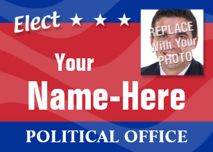 Campaign business cards templates zazzle elect political campaign business card colourmoves