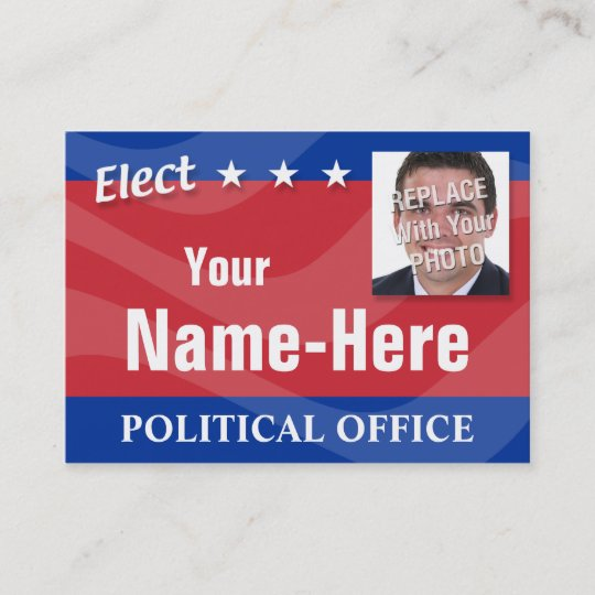Elect political campaign business card zazzle elect political campaign business card colourmoves