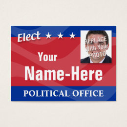 Political campaign business cards templates zazzle elect political campaign business card colourmoves