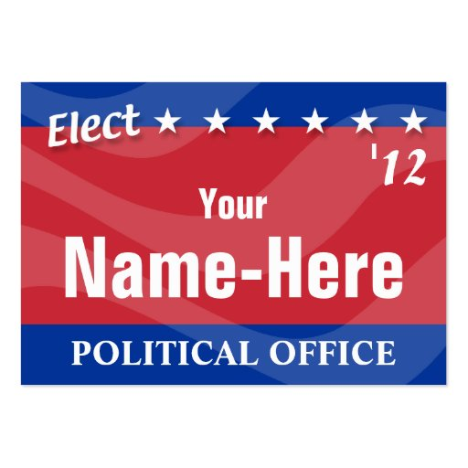 Campaign business card templates elect political campaign business card template zazzle wajeb Images