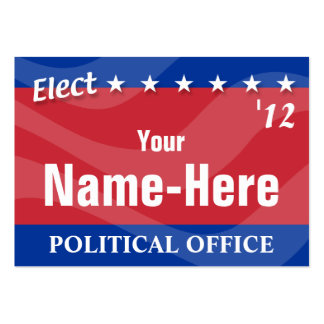 ELECT - Political Campaign Large Business Cards (Pack Of 100)