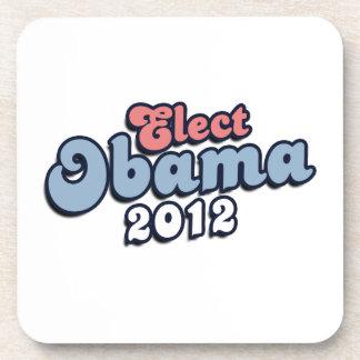 ELECT PRESIDENT OBAMA -.png Beverage Coaster