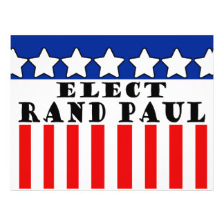 """Elect Rand Paul for President 8.5"""" X 11"""" Flyer"""