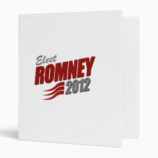 Elect ROMNEY Vinyl Binders