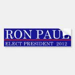 Elect Ron Paul 2012 Bumper Stickers