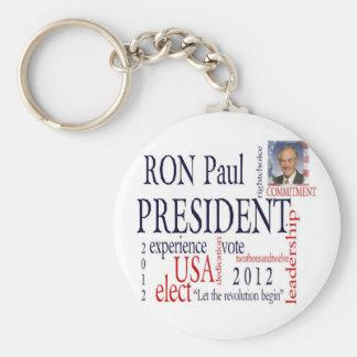 Elect Ron Paul 2012 Basic Round Button Keychain
