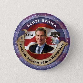 Elect Scott Brown for Senator of New Hampshire Button
