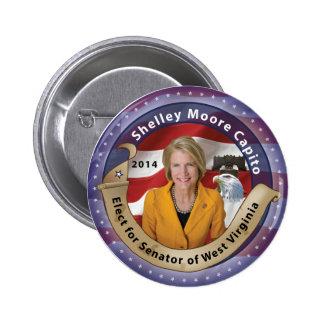 Elect Shelley Moore Capito for Senator of W.V. Pinback Button