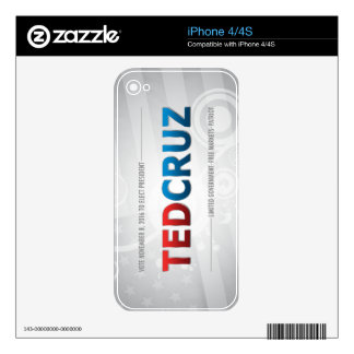 Elect Ted Cruz 2016 Skins For The iPhone 4