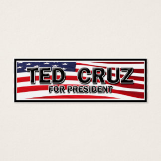 Elect Ted Cruz Mini Business Card