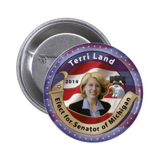 Elect Terri Land for Senator of Michigan - 2014 Pinback Button