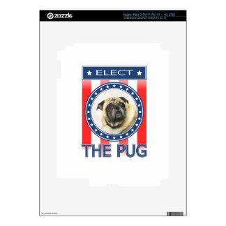 Elect The Pug iPad 3 Decal